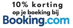 10% korting op je verblijf via Booking.com