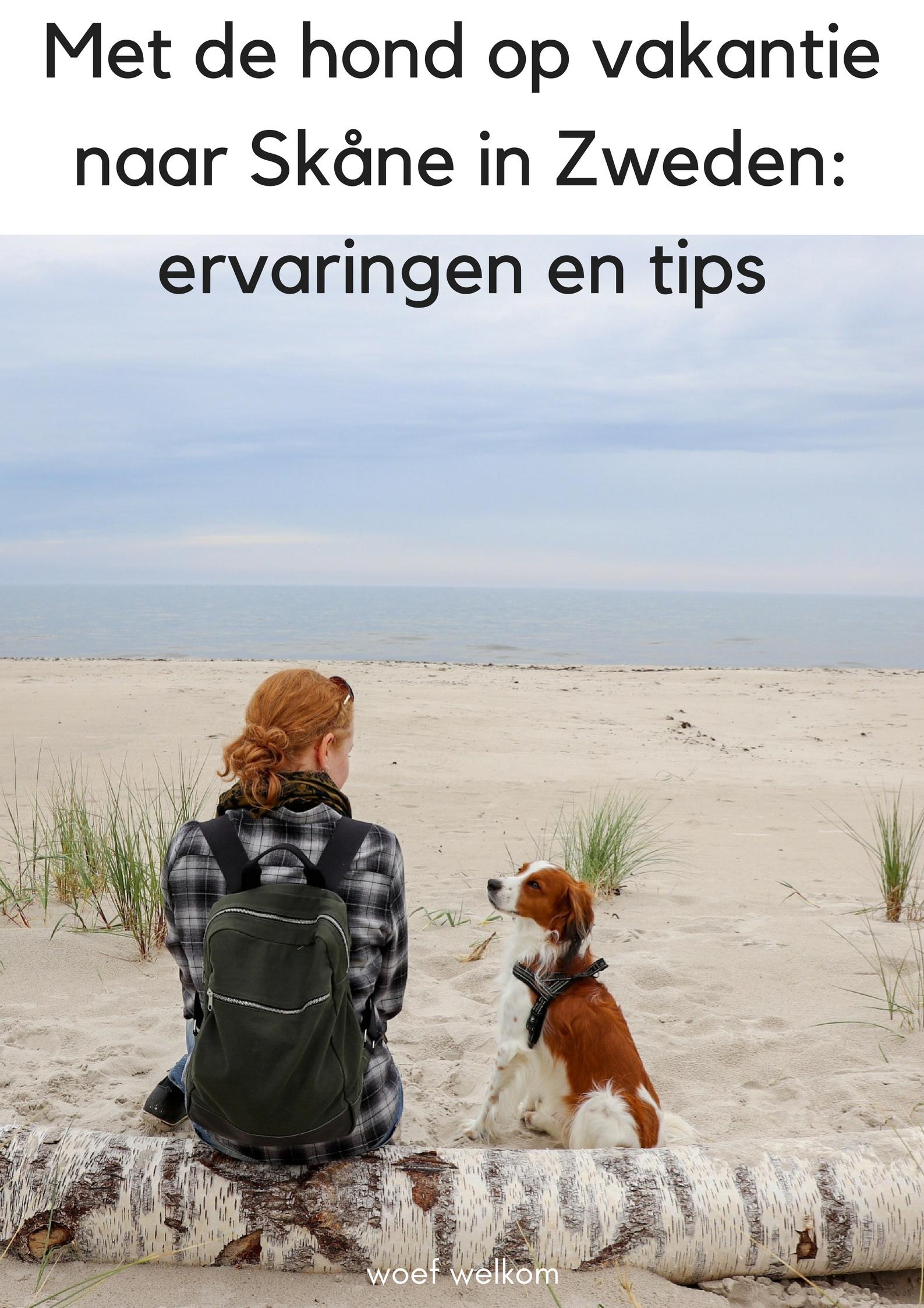 Met de hond op vakantie naar Skåne in Zweden: onze ervaringen en tips - Woef Welkom